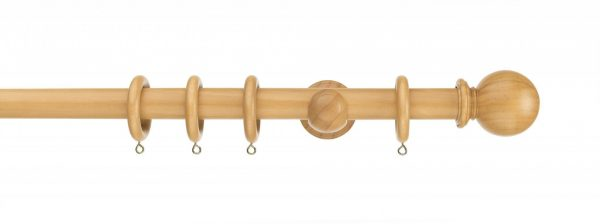 Swish Naturals 28mm Natural Oak Ball Wood Pole