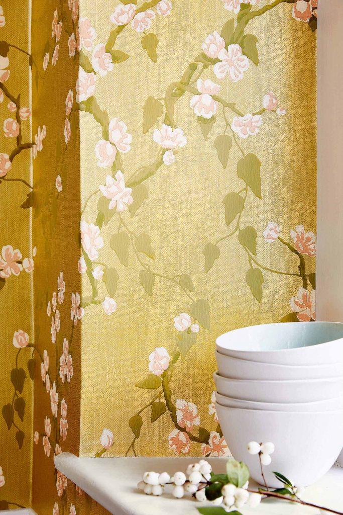 Sakura - Yellow - 3_Little Greene Paint