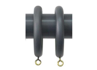 Jones Shore Curtain Rings Charcoal
