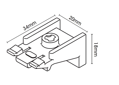 Bracket for Silent Gliss System 1200 Uncorded Aluminium Curtain Track