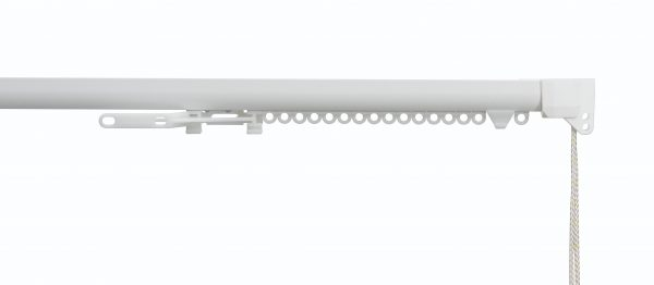 Silent Gliss System 3840 White Aluminium Curtain Track (corded)