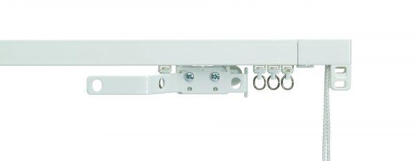 Silent Gliss System 3970 White Aluminium Curtain Track (corded)