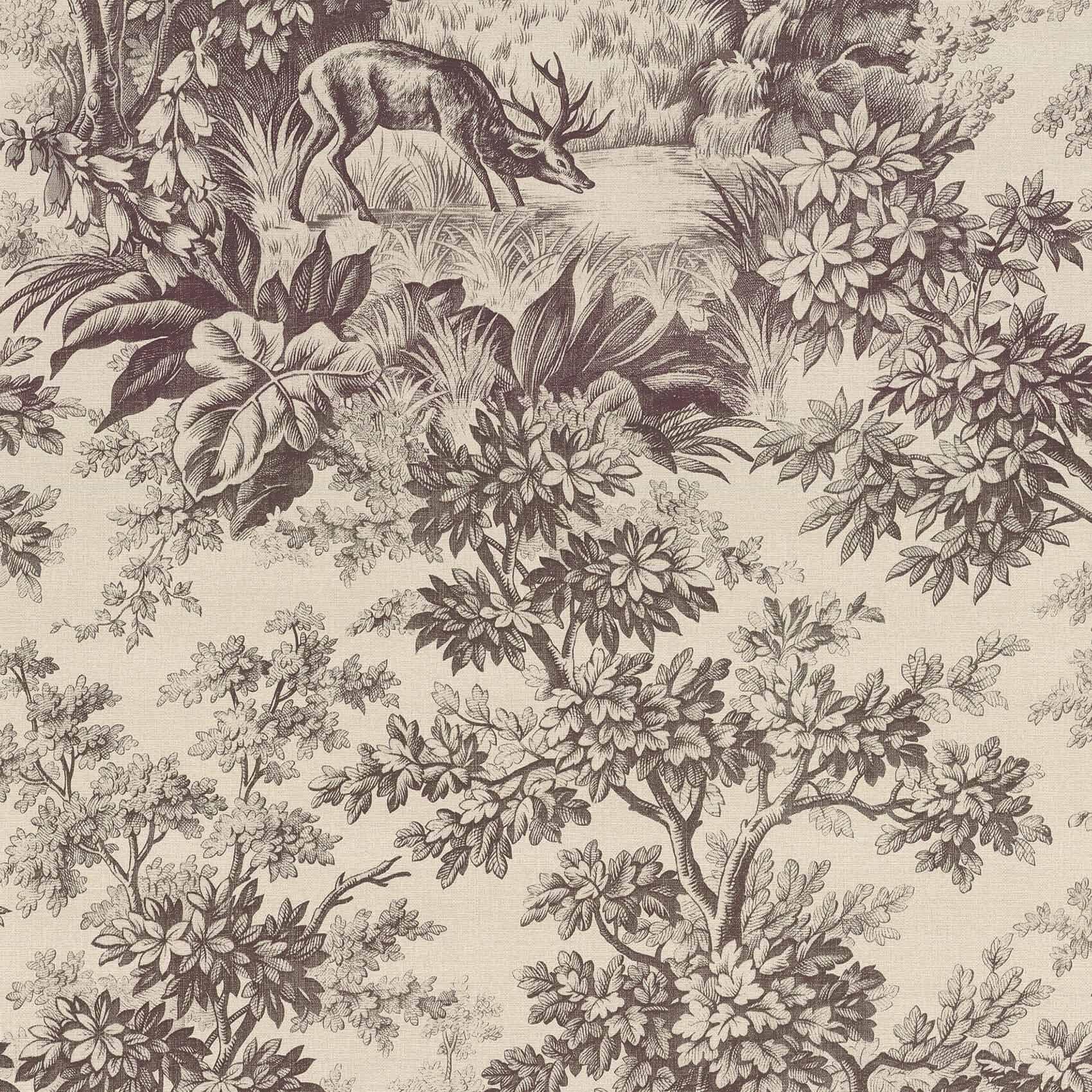 Little Greene Stag Toile Wallpaper