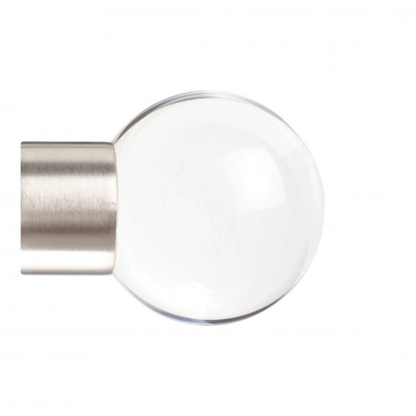 35mm Jones Strand Acrylic Ball Finial matt nickel