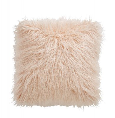 TESS DALY FAUX MONGOLIAN BLUSH CUSHION