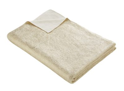 TESS DALY GOLD KNIT THROW