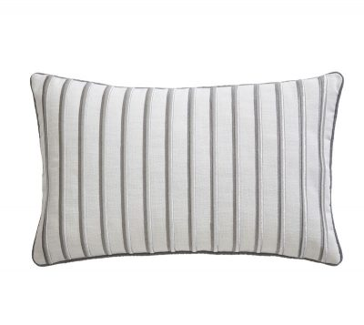 TESS DALY METALLIC STRIPE BOUDOIR CUSHION