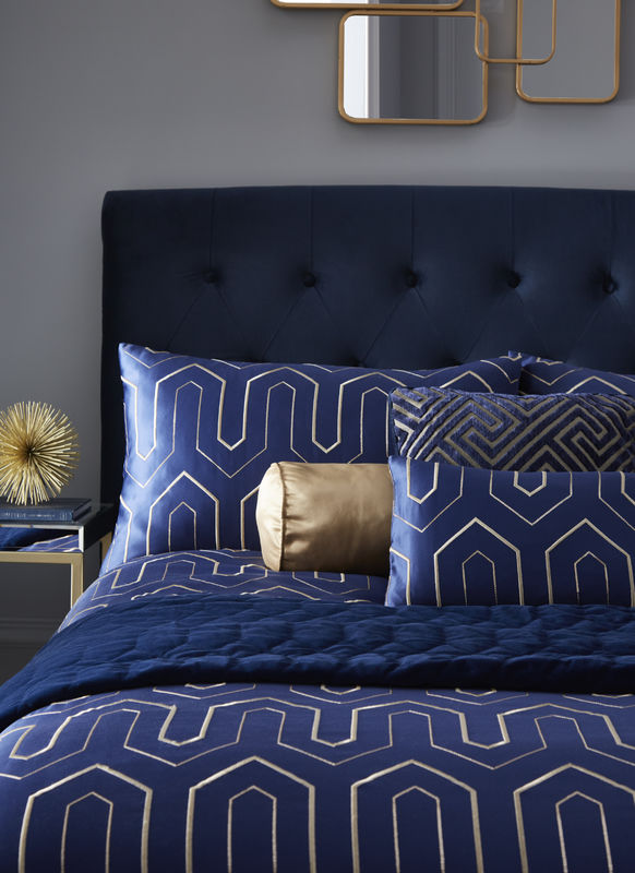 Tess Daly Phoebe Midnight Bedding Close Up