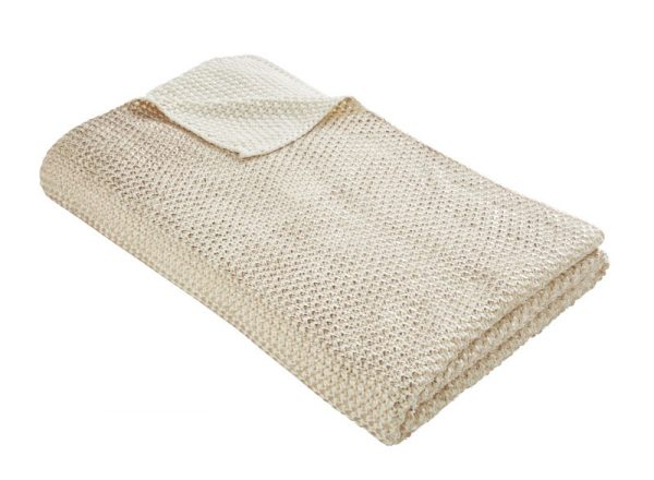 TESS DALY ROSE GOLD KNIT THROW