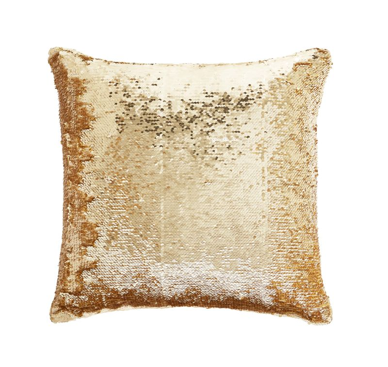 TESS DALY SEQUIN GOLD CUSHION