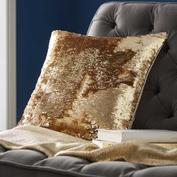 TESS DALY SEQUIN GOLD CUSHION 2