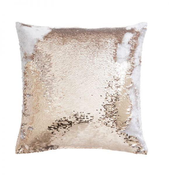TESS DALY SEQUIN ROSE GOLD CUSHION