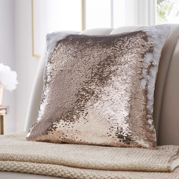 TESS DALY SEQUIN ROSE GOLD CUSHION 2
