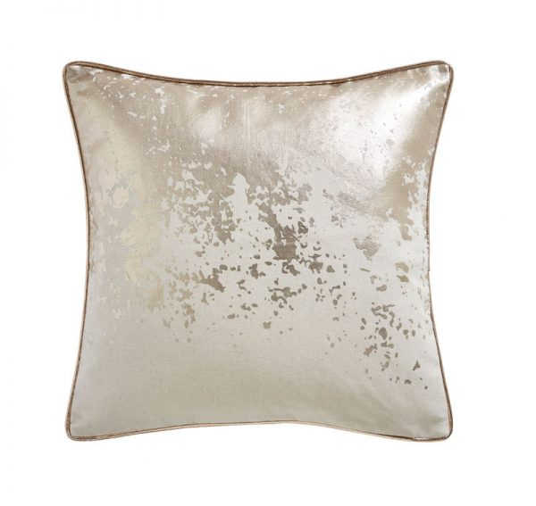 TESS DALY SPLATTER FOIL PRINT CUSHION