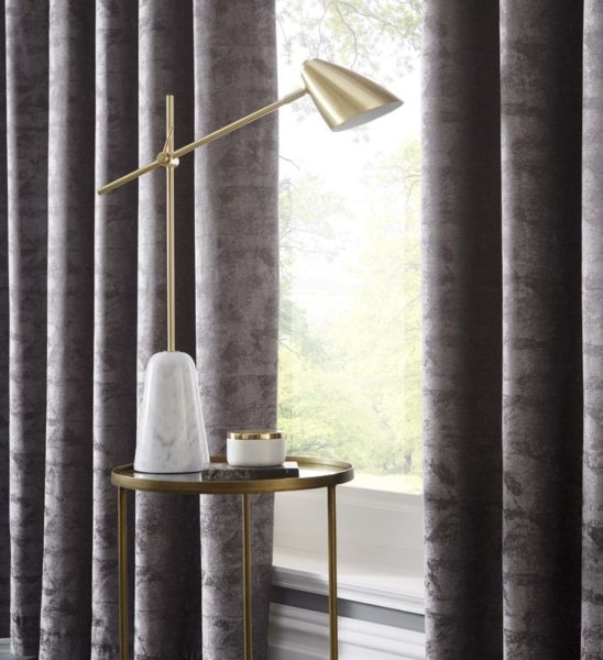 TOPIA CHARCOAL CURTAIN DETAIL