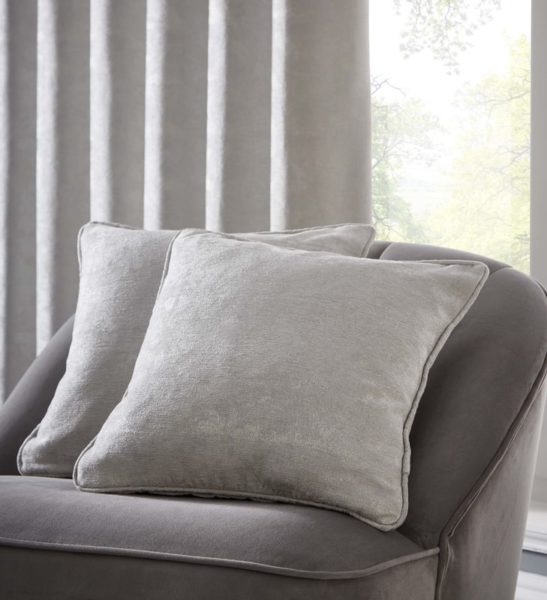 TOPIA SILVER CUSHION DETAIL