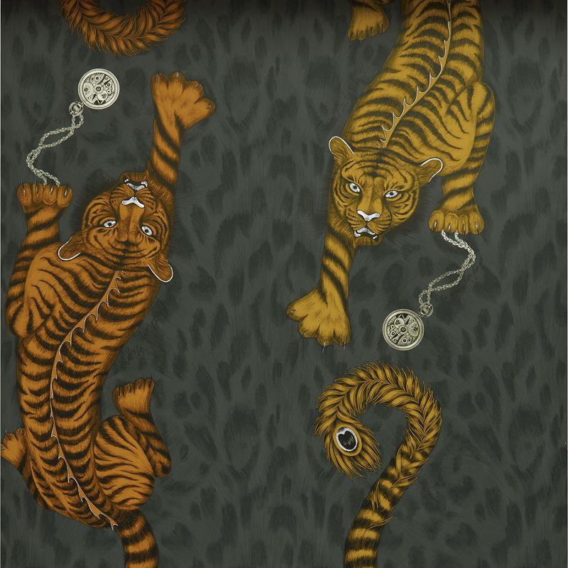 Emma J Shipley Wallpaper Tigris Flame Swatch