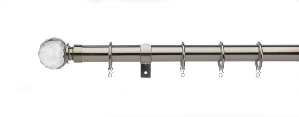 Univeral 25mm-28mm Extendable Curtain Pole Faceted Ball