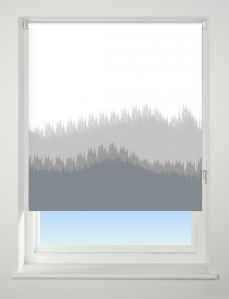 Universal Patterned Blackout Roller Blind Blur Border