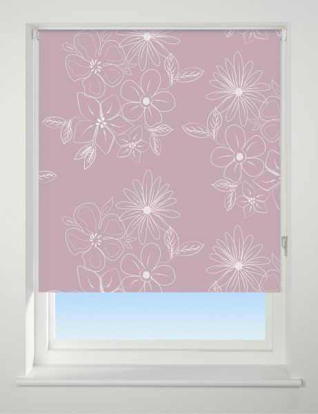 Universal Patterned Blackout Roller Blind Floral Cluster