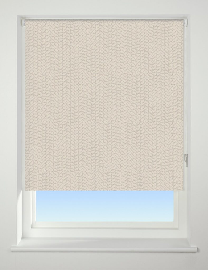 Universal Patterned Blackout Roller Blind Knitted Texture