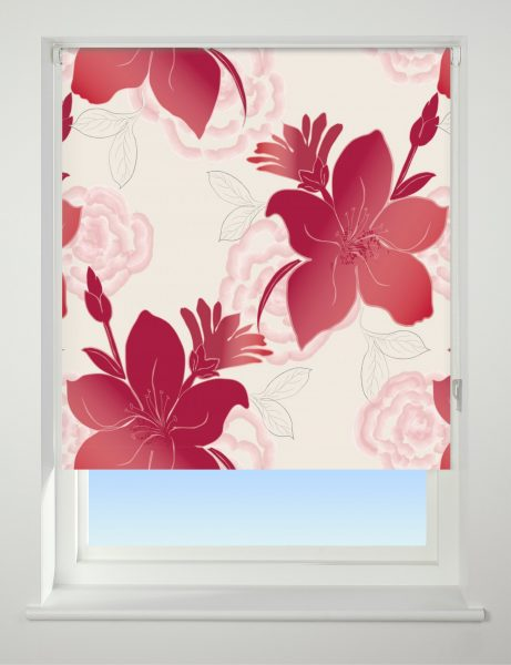 Universal Patterned Blackout Roller Blind Lily
