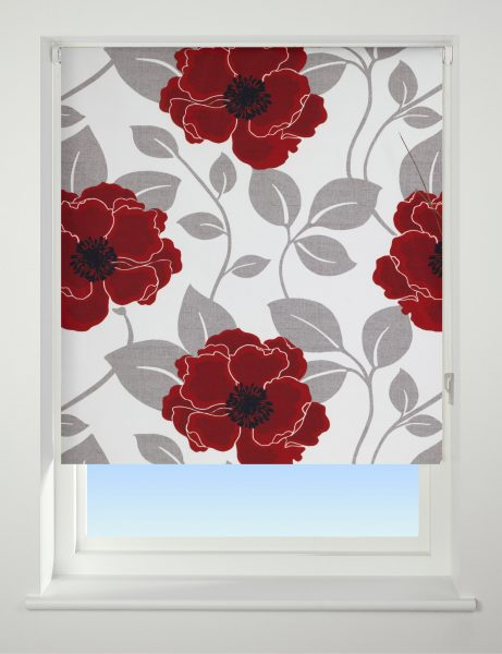 Universal Patterned Blackout Roller Blind Papavero