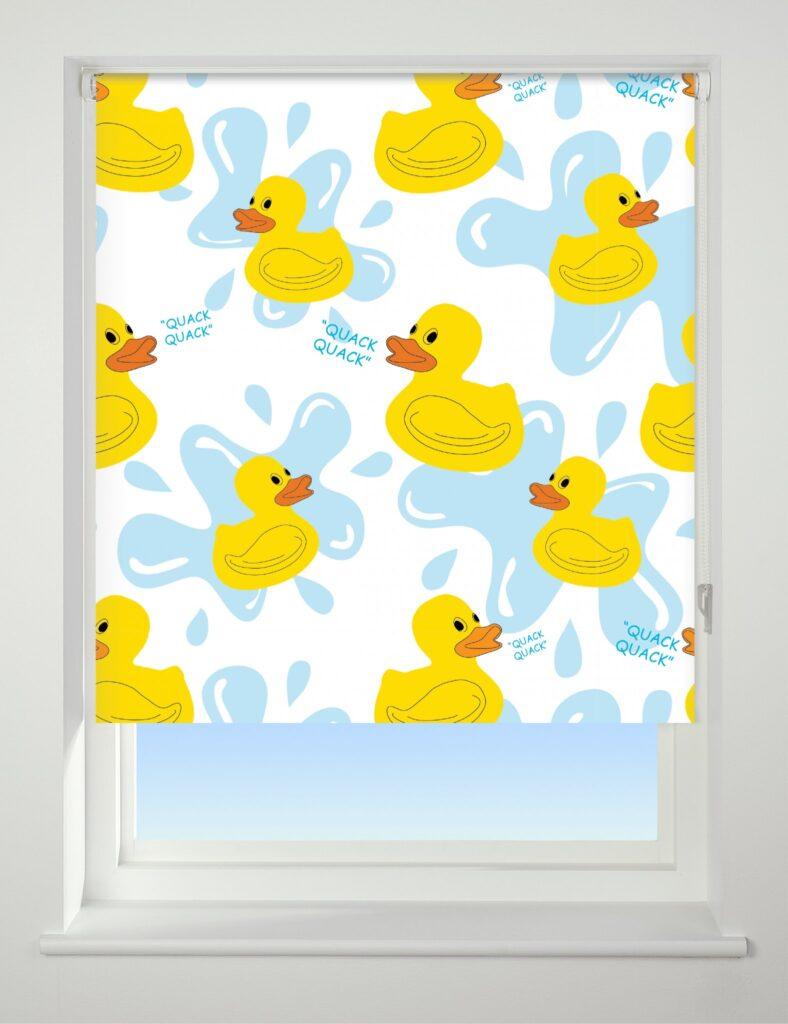 Universal Patterned Roller Blind Quack Quack