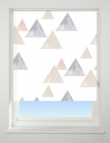 Universal Patterned Blackout Roller Blind Textured Triangle