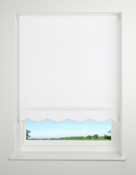 Universal Scallop Edge Plain Daylight Roller Blind