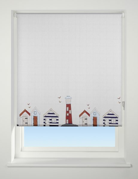 Universal Patterned Daylight Roller Blind Beach Hut