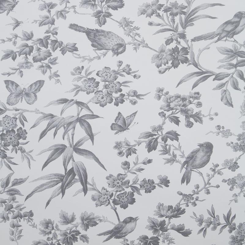 Clarke & Clarke Wallpaper Amelia Grey Colourswatch