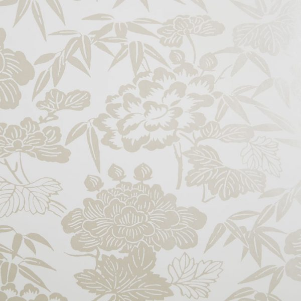Clarke & Clarke Wallpaper Jasmin Ivory/Gold Colourswatch