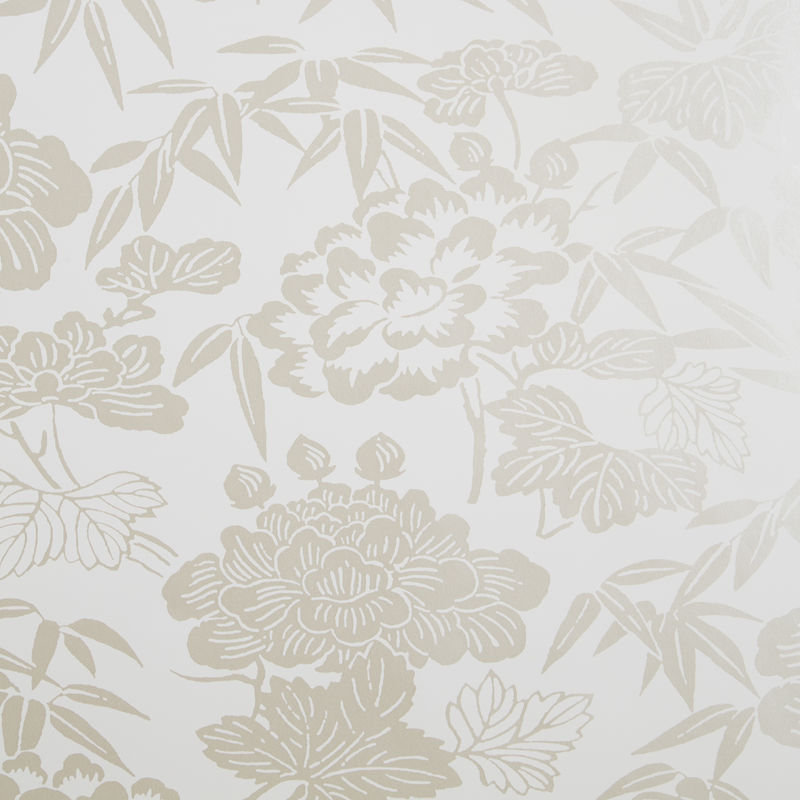 Clarke & Clarke Wallpaper Jasmin Ivory/Gold Colourswatch