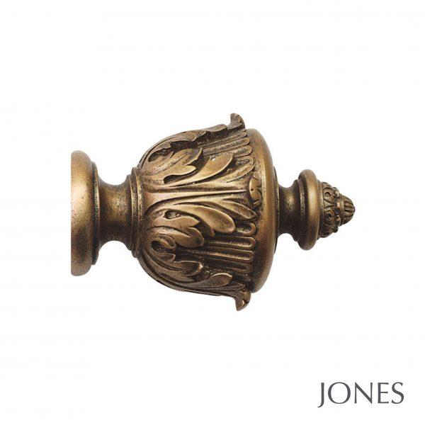 50mm Jones Florentine Acanthus Finial antique gold