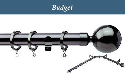 curtain pole budget