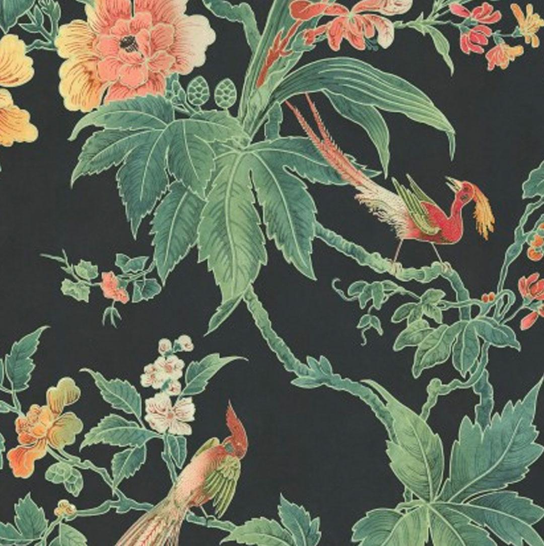 floral wallpaper little green