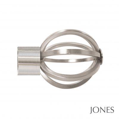 35mm Jones Strand Cage Finial matt nickel