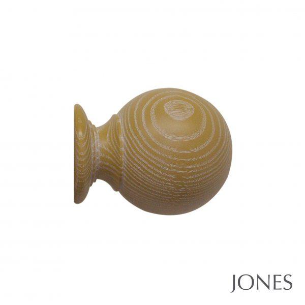50mm Jones Oakham Ball Finial honey