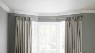 Bay Window Curtain Poles