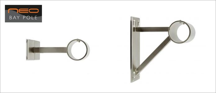 new neo curtain pole brackets