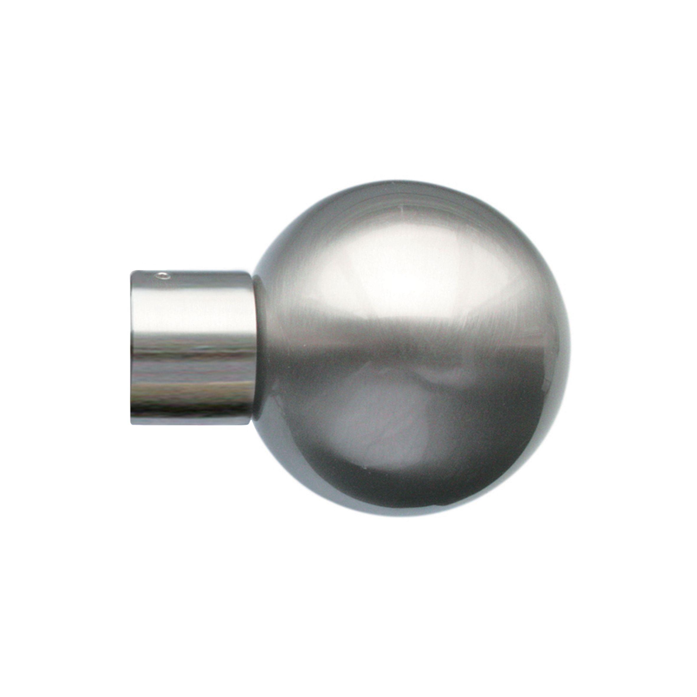 28mm Jones Lunar Metal Sphere Finial matt nickel
