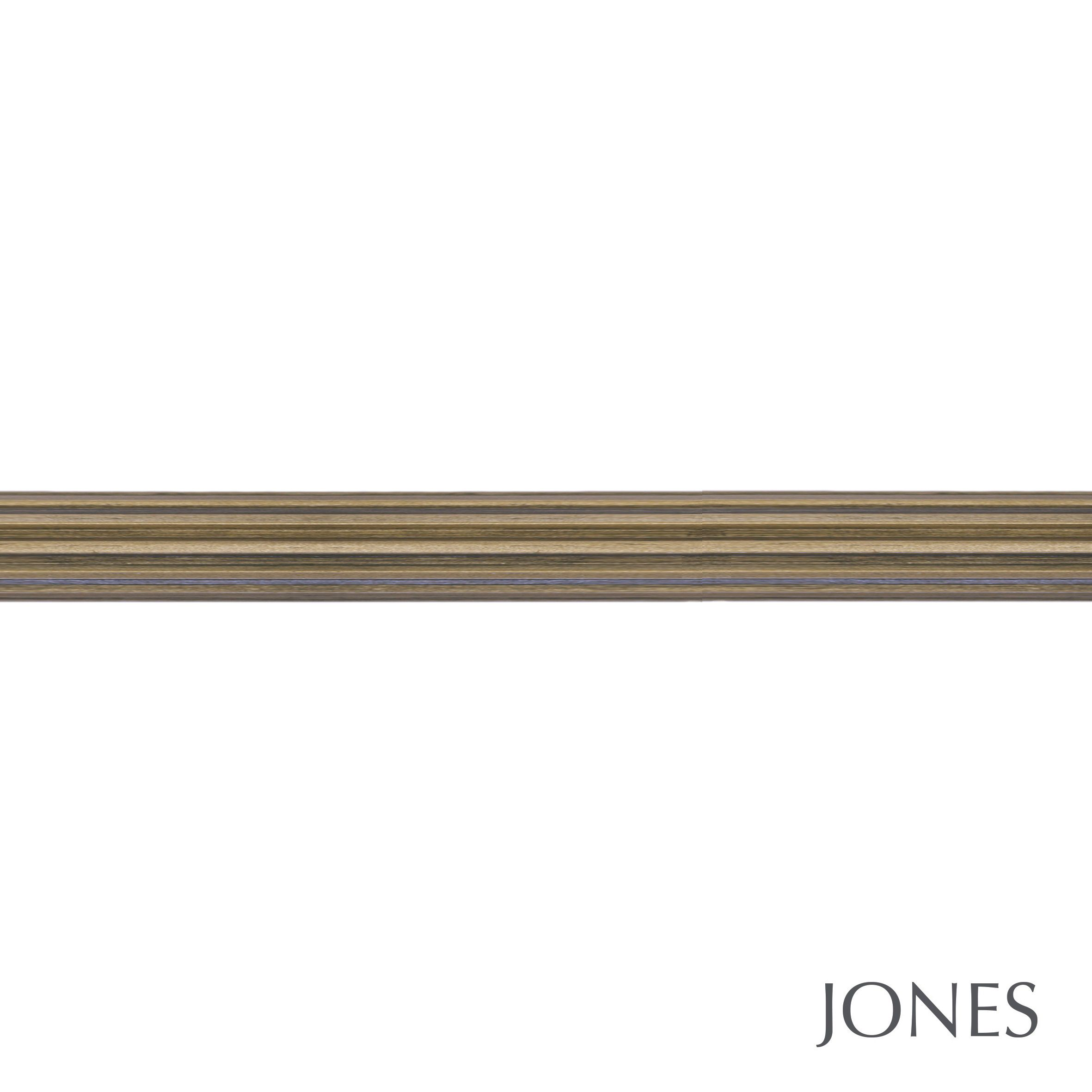 50mm Jones Florentine Fluted Curtain Pole only antique gold