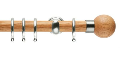 rolls neo oak curtain poles